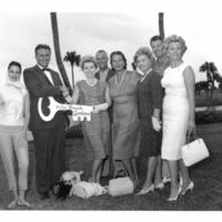 Zsa Zsa Gabor Receives a Key to Palm Beach Gardens